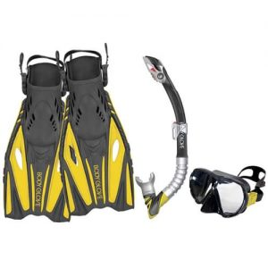 Scalloping Gear: Mask, Snorkel and Fins