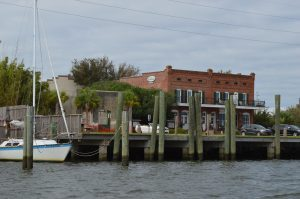 Waterfront of Apalachicola, where the pirates stopped on their way to Cape San Blas.