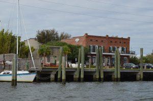 Waterfront of Apalachicola, where the pirates stopped on their way to Cape San Blas.